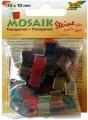 Mozaika pryskyřicová, 10x10,  průhledná, mix  barev