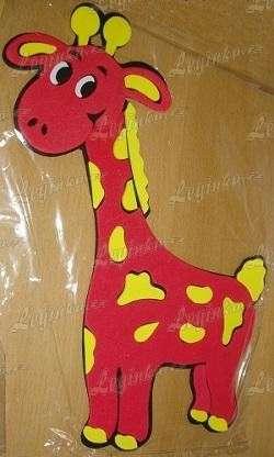 Pěnová dekorace Žirafa
