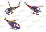 MERKUR Vrtulník, letadlo 013