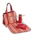 Chic-O-Bello Přebalovací taška Barcelona - červený proužek