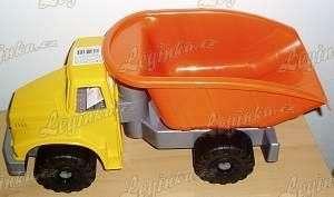Auto nákladní kloubové, 48 cm, žluto-oranžové