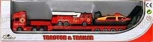 Kamion kovový, hasiči