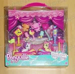 Ponyville - 2 poníci s doplňky - s vozítky