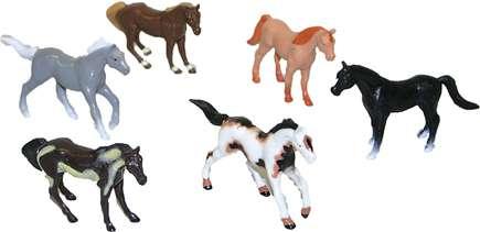 Koně, v sáčku, 6 ks, 6 cm