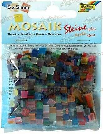 Mozaika pryskyřicová ledová, 5x5 mm, mix