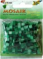 Mozaika pryskyřicová, zelený mix, 5x5 mm