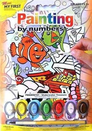 Malování podle čísel, mini, rybky