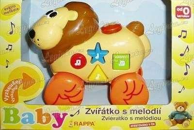Hrající zvířátka na kolečkách - lev