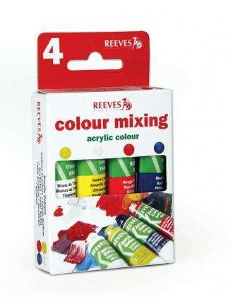 Reeves Akrylové barvy, 4 ks