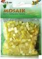 Mozaika z pryskyřice, 5x5mm žlutý mix