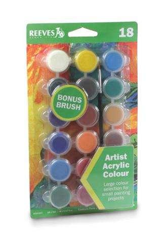 Reeves Akrylové barvy, 18x5 ml