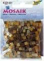 Mozaika třpytivá, hnědý mix, 5x5 mm