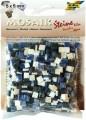 Mozaika mramorová z pryskyřice, 5x5mm modrý mix mramor