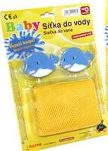 Síťka do vany na hračky s delfíny na přísavce