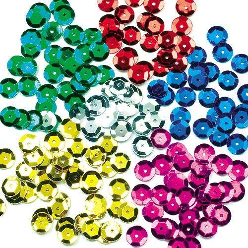 Barevné flitry, 6 barev, 90 g