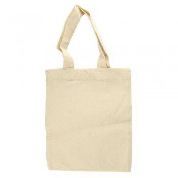 Bavlněná taška, malá, 25x21 cm, barva přírodní