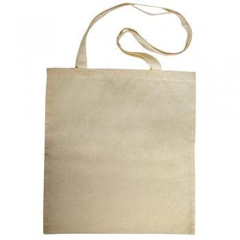 Bavlněná taška, velká, 38x42 cm, barva přírodní, dlouhé ucho
