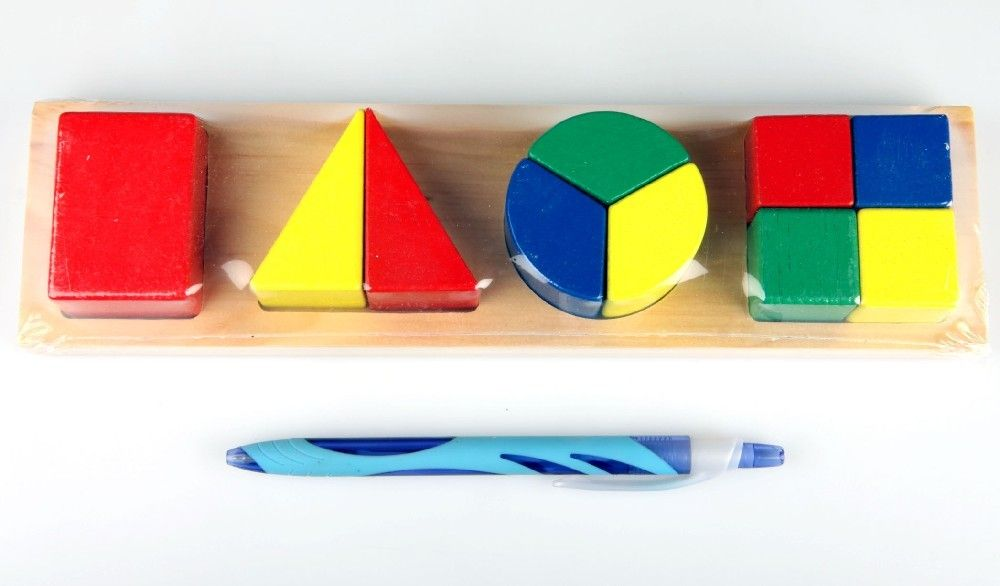 Dřevěná vkládačka, 4 tvary