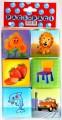Kostky barevné, 6 ks