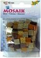 Mozaika pryskyřicová, 10x10,  třpytivá hnědo-žlutá