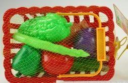 Ovoce v košíku, červený