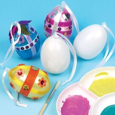 Plastové vajíčko se stuhou, 1 ks