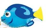 První šití, mořská ryba, modrá, 1 ks