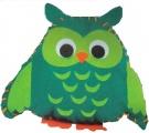 První šití, sova velká, zelená