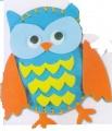 První šití, sovička, 1 ks, barva modrá