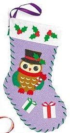 První šití, vánoční punčocha, fialová
