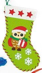První šití, vánoční punčocha, zelená