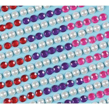 Samolepící perly a drahokamy