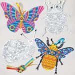Antistresové omalovánky, hmyz, 8 ks v sadě