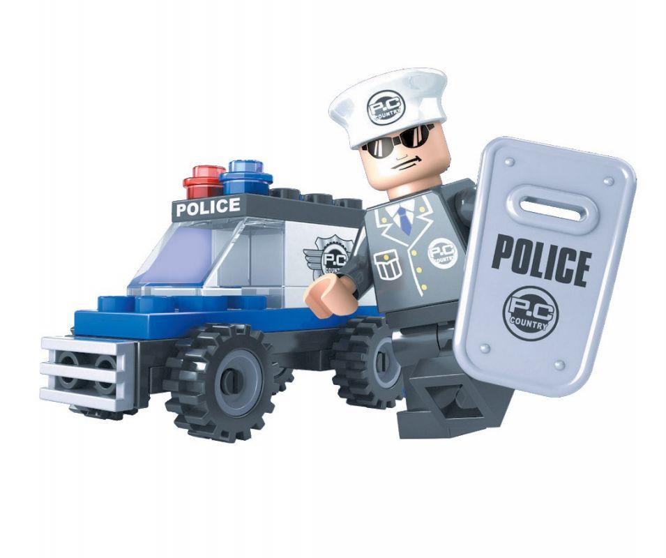 AUSINI stavebnice, policejní auto, 33 dílků