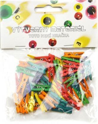 Kolíčky barevné, 45 ks, 2,5x0,3 cm