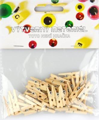 Kolíčky přírodní, 45 ks, 2,5x0,3 cm