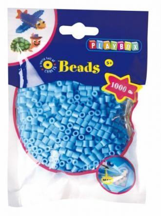 Korálky zažehlovací, barva světle modrá
