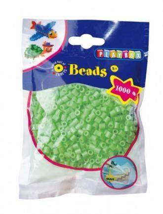 Korálky zažehlovací, barva zelená