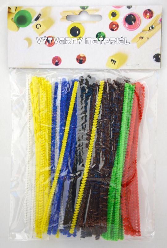Modelovací dráty, 100 ks, mix barev, mini 15 cm