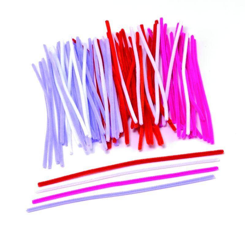 Modelovací dráty, 30 cm, 120 ks, romantické barvy