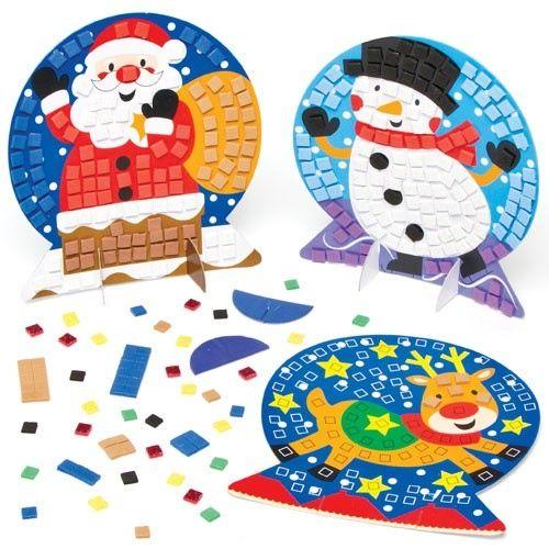 Mozaiková dekorace, vánoční motivy, 1 ks