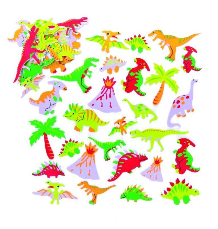 Pěnové samolepky, dinosauři