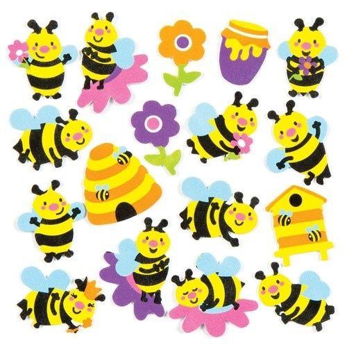 Pěnové samolepky, včely, sada, 120 ks