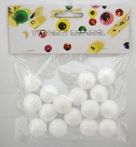 Polystyrenové koule, 25 mm, 15 ks