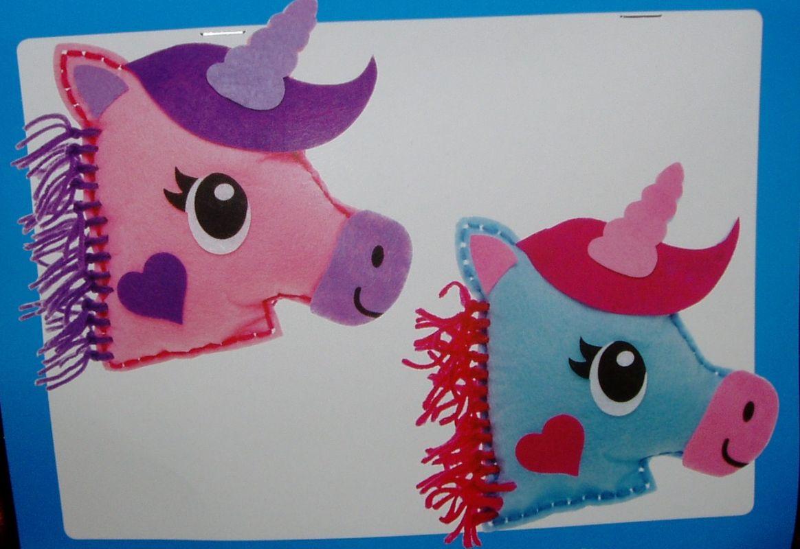 První šití, jednorožec, sada 2 ks, modrý a růžový
