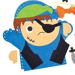 První šití, maňásek pirát, modrý