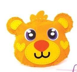 První šití, medvídek, 1 ks, oranžový