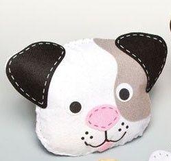První šití, pes, 1 ks, bílý
