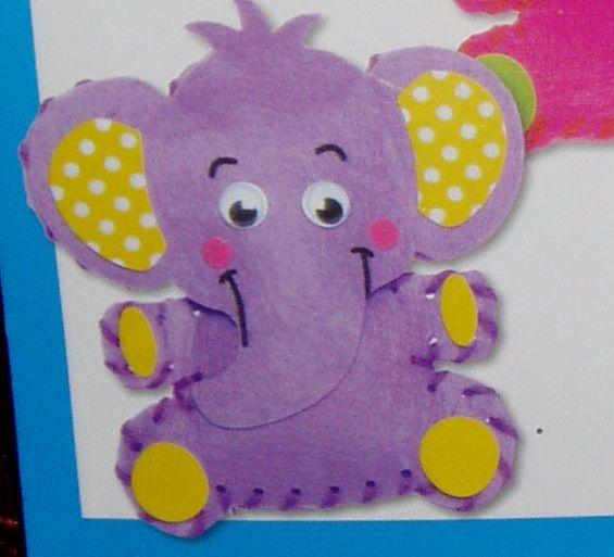 První šití, slon, 1 ks, barva fialová