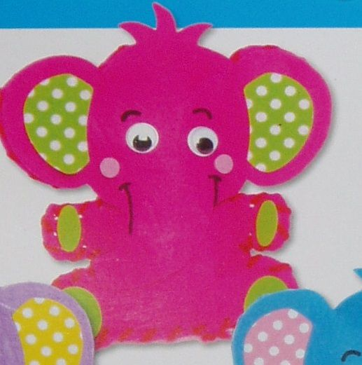 První šití, slon, 1 ks, barva růžová
